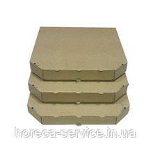 Коробка картонная под пиццу квадратная 300*300*35 мм крафт.бурая.Craft, фото 2