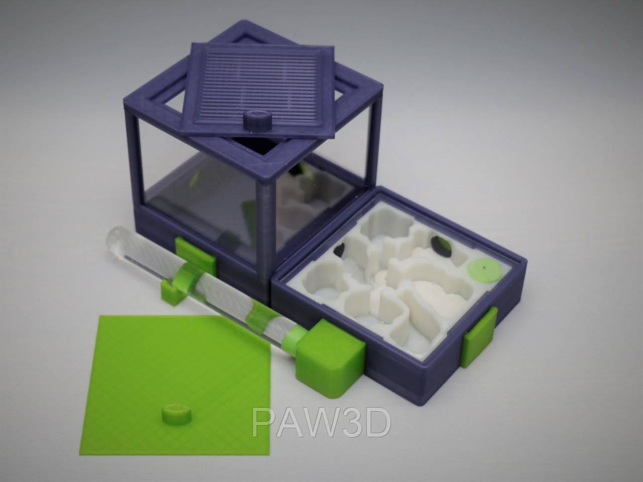 Муравьиная ферма, формикарий модульный horizontal фиолетовый