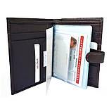Мужское портмоне для водительских документов кожаное коричневое Karya 0914-39, фото 3