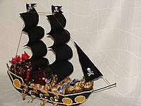 """Пиратский корабль из конфет""""конфетные сокровища"""""""