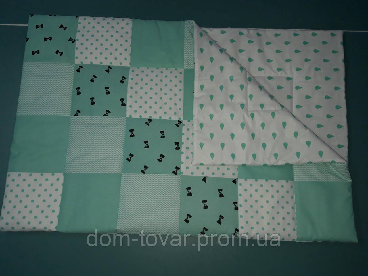 Покрывало-одеяло пэчворк  для новорожденных