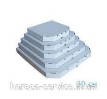 Коробка картонная под пиццу квадратная 330*330*38 мм Craft,бурая ,крафт, фото 3