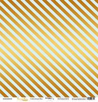 Скрапбумага с золотым тиснением 30x30 Golden Stripes Blue от Scrapmir Every Day Gold