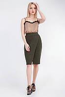 Элегантная женская юбка прямого силуэта хаки