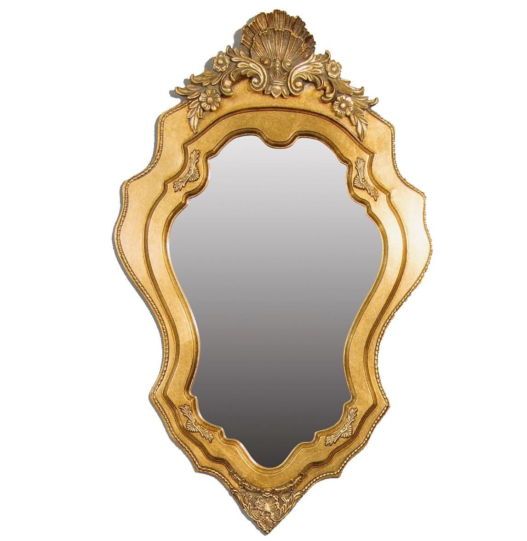Зеркало навесное Ажур в золотой декоративной раме TM Embawood