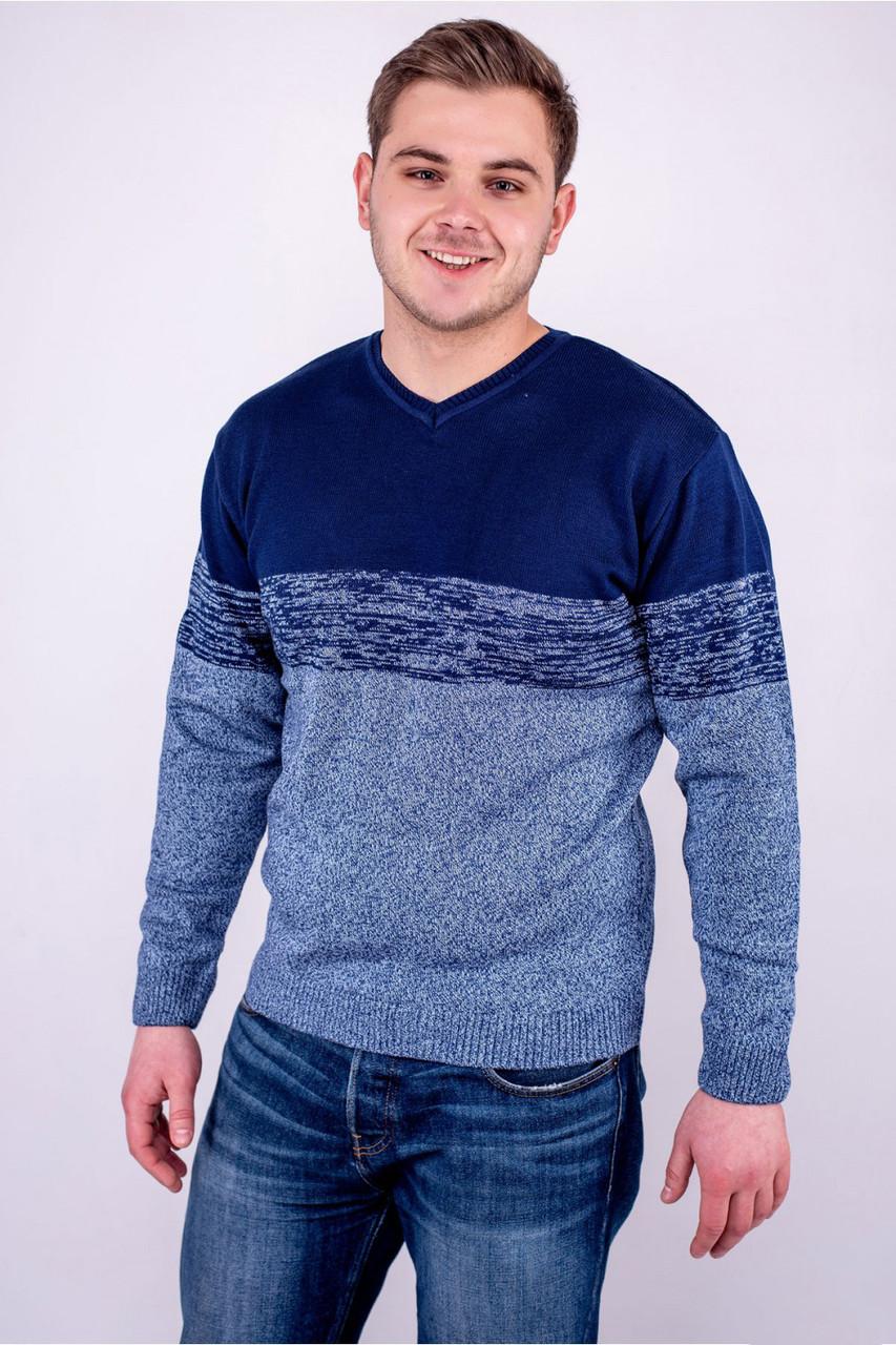 Мужской теплый свитер Гена бирюза