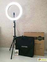 Профессиональная кольцевая светодиодная LED лампа 50 см Сумка 65 ват