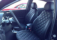 Чехлы на сиденья ДЭУ Ланос (Daewoo Lanos) (модельные, 3D-ромб, отдельный подголовник), фото 1