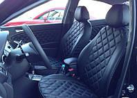 Чехлы на сиденья Форд Коннект (Ford Connect) (модельные, 3D-ромб, отдельный подголовник), фото 1