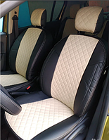 Чехлы на сиденья Джили Эмгранд ЕС7 (Geely Emgrand EC7) (модельные, 3D-ромб, отдельный подголовник)
