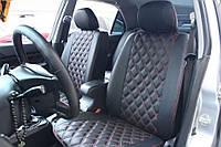 Чехлы на сиденья Джили МК (Geely MK) (модельные, 3D-ромб, отдельный подголовник), фото 1