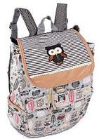 Рюкзак молодежный Совы R50570, на 14 л серый