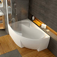 Ванна акриловая Ravak Rosa II 170х105 левосторонняя Ванна + опора + панель + сифон (хром) + штора для ванны VSK2  ROSA II белая + держатель для шторы