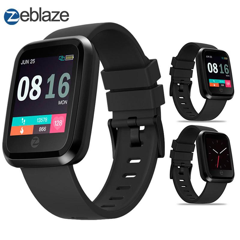 Смарт-часы Zeblaze Crystal 2 с цветным 1,29 дюймовым IPS LCD экраном (Черные)