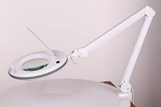 Лампа с лупой и подсветкой (холодный свет) Led 6027К (3D 12W) для косметолога, для наращивания ресниц