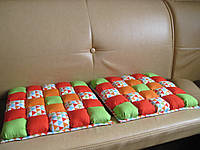 Подушка коврик на стул в технике Puff - пэчворк ручная работа