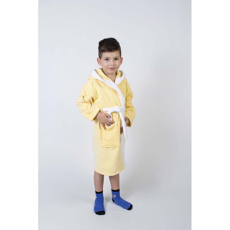 Халат детский Lotus - Зайка новый 7-8 лет желтый