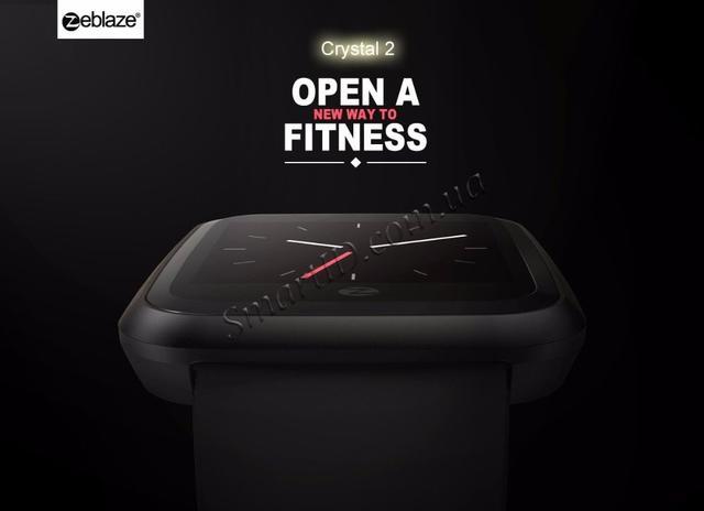 Смарт-часы Zeblaze Crystal 2 с цветным 1,29 дюймовым IPS LCD экраном Черные
