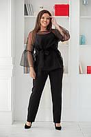 Костюм женский с брюками батал  Жаклин, фото 1