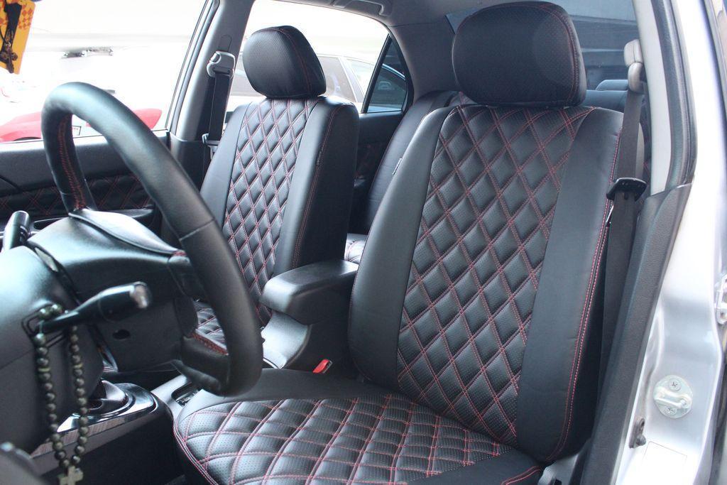 Чехлы на сиденья Субару Форестер (Subaru Forester) (модельные, 3D-ромб, отдельный подголовник)