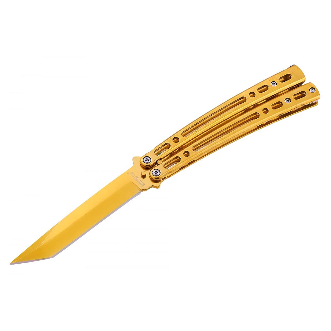 Нож бабочка балисонг Танто Gold