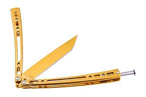 Нож бабочка балисонг Танто Gold, фото 2