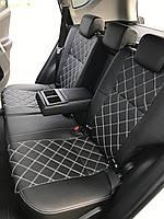 Чехлы на сиденья КИА Рио 2 (KIA Rio 2) (модельные, 3D-ромб, отдельный подголовник) черный