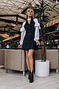 Замшевое платье с имитацией двойки 14plt2354, фото 4