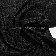 Креп-дайвинг трикотаж металлик черный, фото 3