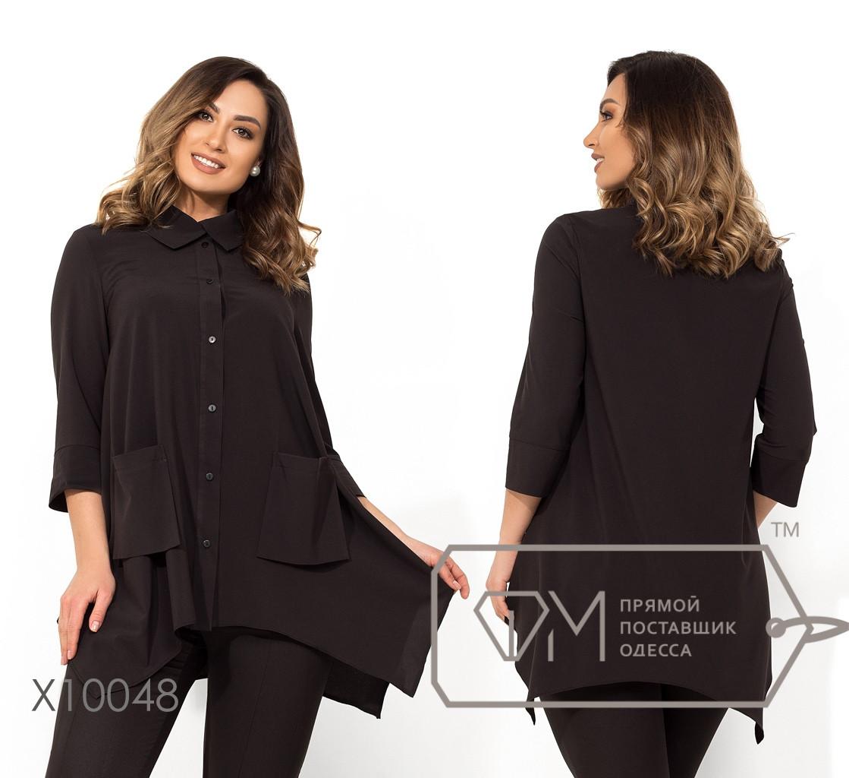 Женская свободная блуза в больших размерах 1blr1354