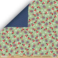 Скрапбумага Лист двусторонней бумаги 30x30 от Scrapmir Подарки из коллекции Hello Christmas