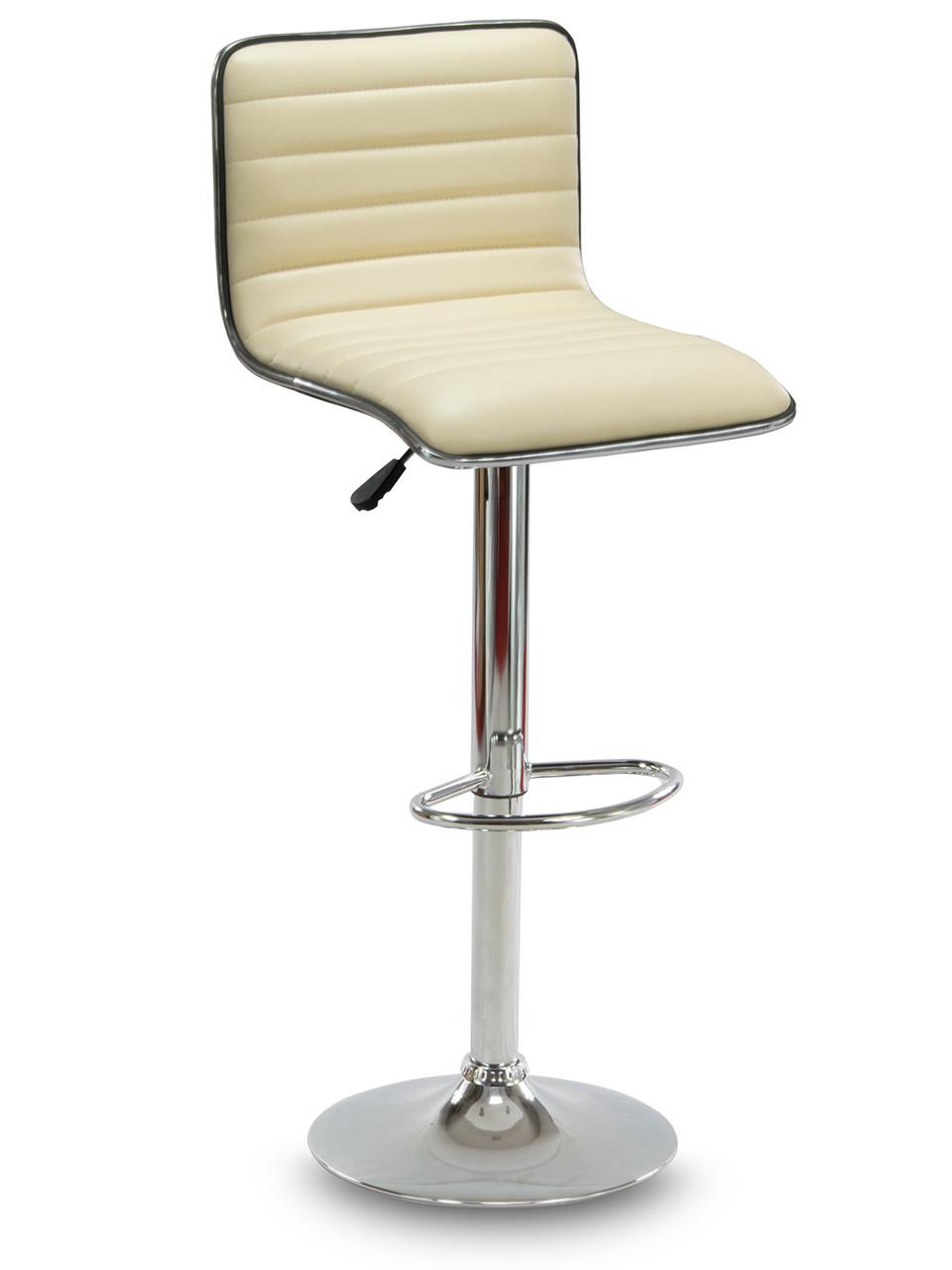Барний стілець Hoker ESTERO з підставкою для ніг і регулюванням сидіння по висоті Бежевий