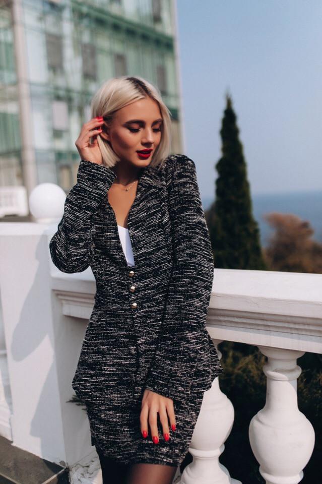 Классический костюм, пиджак и юбка  / 3 цвета арт 8384-613
