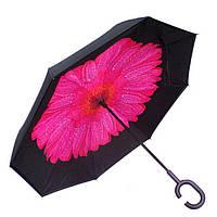 Зонт обратного сложения Vip-brella Георгин Розовый f05e49283d077