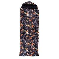 Спальный мешок с капюшоном 220x73см