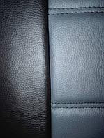 Чехлы на сиденья Шевроле Ланос (Chevrolet Lanos) (модельные, 3D-ромб, отдельный подголовник) черно-серый