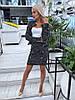 Элегантный юбочный костюм из облегченного букле / 3 цвета арт 8396-613 , фото 8