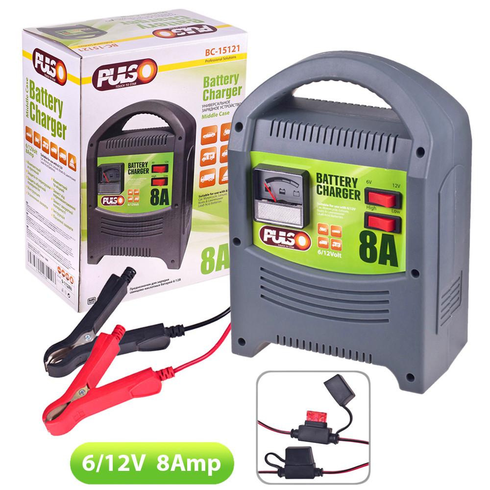 Зарядное устр-во PULSO BC-15121 6-12V/8A/9-112AHR/стрел.индик.