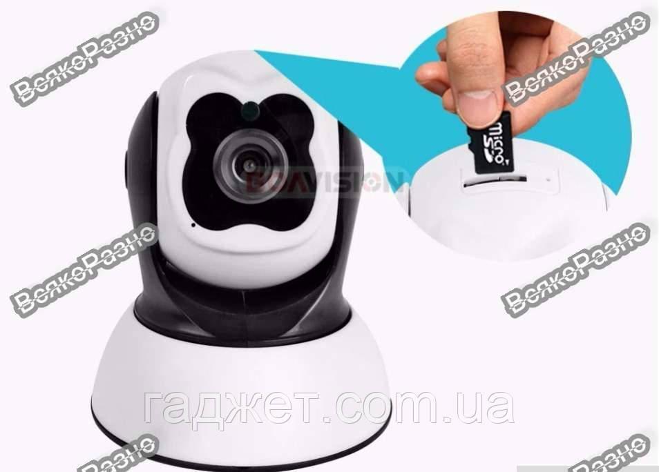 Поворотная Wi Fi IP-камера видеонаблюдения, ночная съемка, видеоняня