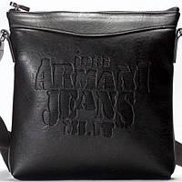 Мужская сумка на плечо Giorgio Armani  черного цвета