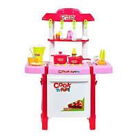 Детская игровая кухня Fun Cook 889-57-58 с посудой (gr006784)
