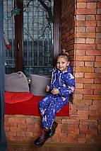 Детский комбинезон  демисезонный для девочки с капюшоном синий Хит Новинка 2019-2020, фото 3