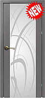Межкомнатная дверь  ТМ Галерея дверей Милано-2 ,  рис.Трава , полотно остекленное
