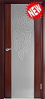 Межкомнатная дверь  ТМ Галерея дверей  Милано-2 ,  рис. Фолия-2, полотно остекленное