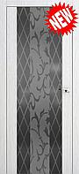 Межкомнатная дверь  ТМ Галерея дверей  Милано-2 ,  рис. Лилиум, полотно остекленное