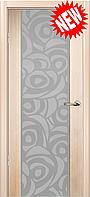 Межкомнатная дверь  ТМ Галерея дверей Милано-2,  рис Розетто, полотно остекленное