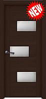 Межкомнатная дверь  ТМ Галерея дверей  Поло Венге , полотно остекленное