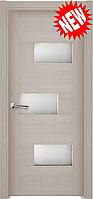 Межкомнатная дверь  ТМ Галерея дверей  Поло Сандал, полотно остекленное
