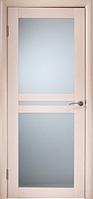 Межкомнатная дверь  ТМ Галерея дверей  Берлин-Сити Беленный дуб, полотно остекленное