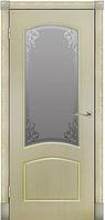 Межкомнатная дверь  ТМ Галерея дверей  Бьянка Беленый Дуб Витраж, полотно остекленное
